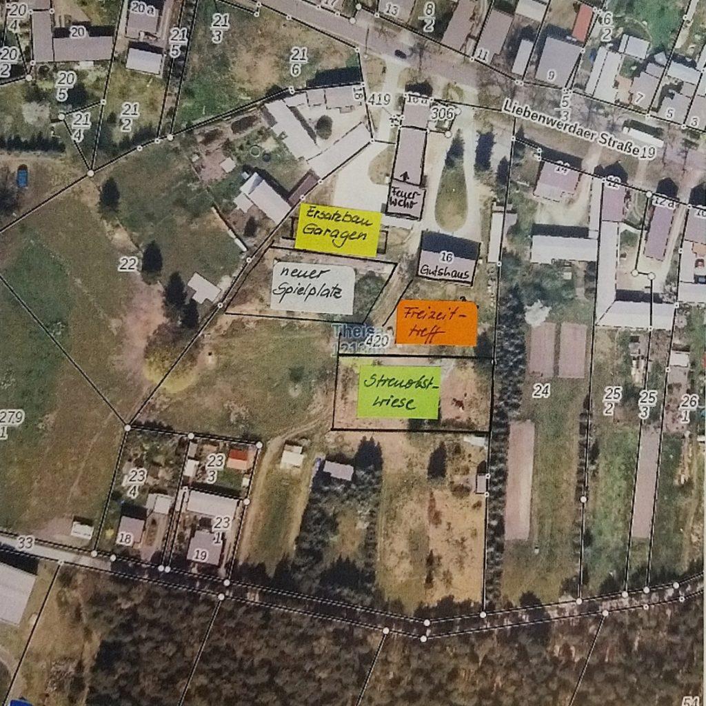 Karte - Dorfentwicklung
